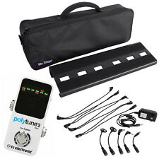 TC Electronic Polytune 2 Mini Guitar Bass Tuner with Pedal Board and Power Pack