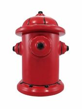 Red Fire Hydrant Ceramic Cookie Jar Fire Fighter Gift Collection Cookies Treat