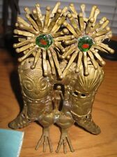 Signed Pal Kepenyes.Modernist Welded Brass Owl Sculpture with female Nude