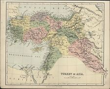 1880 Gall & Inglis Antique map of Turkey in Asia - Black Sea to Persian Gulf