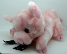 Vintage Naf Naf Plush Toy French Version of Practical Pig from The 3 Little Pigs