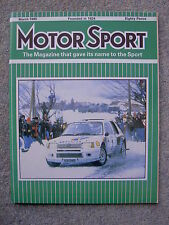 Motor Sport (March 1985) Lister Jaguar XJS, Porsche 944 Turbo, Saab 900 Turbo