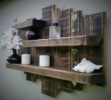 unique floating shelf wall display storage unit furniture mirror wood sculpture