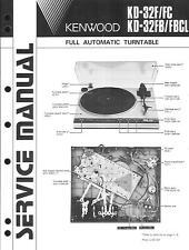 Kenwood Original Service Manual für KD-32 F/FC/FB/FBCL