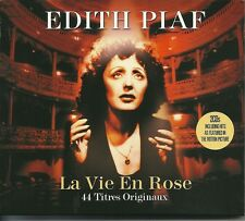 EDITH PIAF LA VIE EN ROSE - 2 CD BOX SET - RIEN DE RIEN, MILORD & MANY MORE