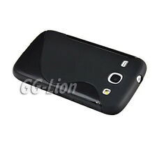 bl.TPU Silicone Case Cover Skin For Samsung Galaxy Core GT-i8260 i8262 +LCD Film