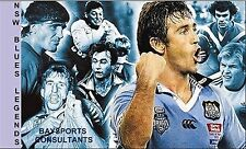 NSW BLUE HEROES 'LEGENDS SERIES' TRADING CARD 2014 'BAYSPORTS' NRL