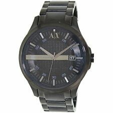 Armani Exchange Men's AX2104 'Classic' Black Stainless steel Watch
