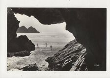 From The Caves Holywell Bay Cornwall [12/540] Vintage RP Postcard 919a