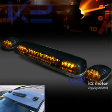 3Pcs Amber LED Smoked Roof Top Cab Parking / Running Lights Marker Lamps Truck
