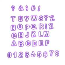 40Pcs Alphabet Number Letter Fondant Cake Cookie Mould Fondant Cookie Cutters