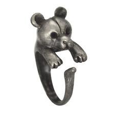 Animal Wrap Bear Ring Opening Adjustable Women Rings Punk Designer Finger Wrap