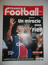 FRANCE FOOTBALL 26 AOUT 1997 FLORIAN MAURICE / PSG ELIMINER STEAUA BUCAREST
