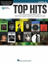 Playalong TOP HITS Justine Bieber pop Adele grafico Viola libro musica audio in linea