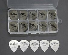 100pcs Lot Alice Stainless Steel Metal Guitar Picks Plectrum 0.3mm + Box 10 Grid