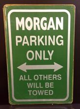 Morgan Parking Only Metal Sign / Vintage Garage Wall Decor (30 x 40cm)