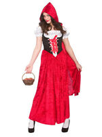 Fairytale Storybook Halloween Little Red Riding Hood Costume Fancy Dress Party
