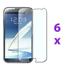 6 Clear Screen Protector Skin Cover Guard For Samsung Galaxy Note 2 II N7100