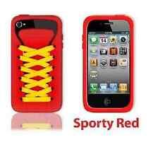 Jugar Hello Rojo Ishoe Deportivo Funda De Silicona para iPhone 4