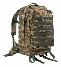 MOLLE II 3 Day Assault Pack Woodland Digital Camo Sporty Backpack Hiking Bag