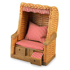 Reutter Porzellan Strandkorb Roofed Wicker Beach Chair 1:12 Puppenstube 1.809/0