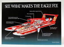 1991 WINSTON EAGLE See What Makes Eagle Fly promo ad card hydroplane boat racing