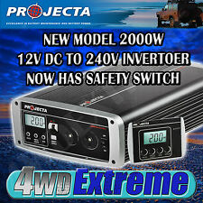 PROJECTA IP2000 PURE SINE WAVE INVERTER 12 TO 240 VOLT 2000 WATT TRUE CARAVAN