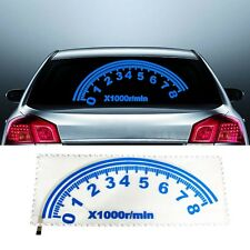 80x30cm Blue Sound Activated Sticker Equalizer Car Music Rhythm LED Flash Light