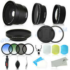 Fisheye Wide Angle Tele Lens Filter Kit for Canon PowerShot SX50 SX60 SX520 HS