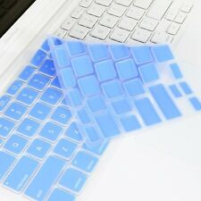 BLUE Silicone Keyboard Cover Skin for Macbook White 13""