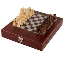 Rosewood Finish Gift Chess Set - With FREE Engraving (GS006)