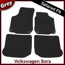 Volkswagen VW Bora 1998-2005 Round Eyelets Tailored Fitted Carpet Car Mats GREY