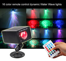 16 Color New Remote LED Water Wave Ripple Effect Stage Lighting Projector Disco