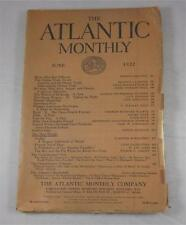 ATLANTIC MONTHLY JUNE 1922 OPIUM TRADE AMERICA INDIA JAMES NORMAN HALL FLAPPER