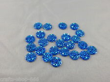 25 Glitzersteine - Blau - 10 mm - NO hot fix