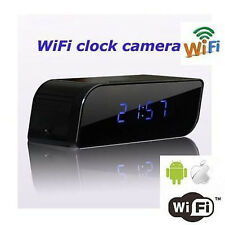 720P HD WIFI DVR Hidden Alarm Camera Clock Digital DVR Motion Video Nanny Cam US