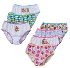 SIZE 8 NEW Shopkins 7 Pack Girls Panties Briefs Underwear Undies Cotton Calzones