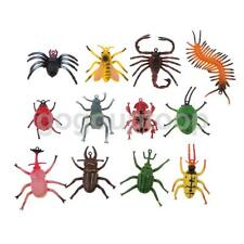 12 Plastic Fake Reptilia Insect Model Kids Halloween Tricks Joke Pranks Toys