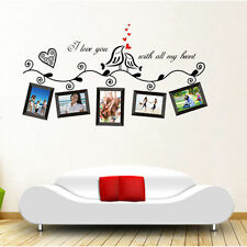 Love Birds Photo Frame Wall Sticker Removable Vinyl Art  Decal Mural Home Decor