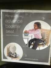 mamas papas advance booster seat 18 months plus new in box never used