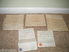 1934 / 1935 ~ Deaconess Hospital Evansville, Ind.  ~ Bill and Receipts