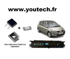 Kit réparation compteur tableau de bord Scenic 2 IRF3710S + Fusible + Vidéo