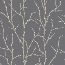 NEW RASCH ALLURE TREE TWIG BRANCH PATTERN SILVER GLITTER MOTIF WALLPAPER 309720