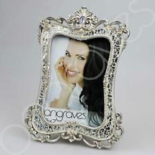 Silver Sparkle Glass Mosaic Lille Photo Frame (5 x 7) Photoframe Picture Glitter