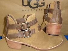 UGG Australia PATSY Chestnut Buckle Ankle Boots Booties Size US 7 NIB #1011662