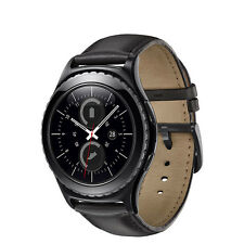 NEW Samsung Gear S2 Classic Smartwatch 40mm Stainless Steel Black Leather 126494