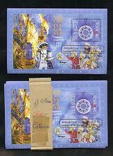 MACAU  SCOTT#946a VASCO DA GAMA GOLD OVERPRT  SOUVENIR SHEET LOT OF 100 MINT NH