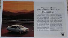 Advert Pubblicità 1991 LANCIA DEDRA 2000 TURBO