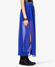 NWT Forever 21 Slit Chiffon Maxi-skirt in Royal Blue Size Medium