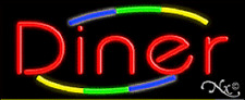 """NEW """"DINER"""" 32x13 W/MULTICOLOR DESIGN REAL NEON SIGN w/CUSTOM OPTIONS 10782"""